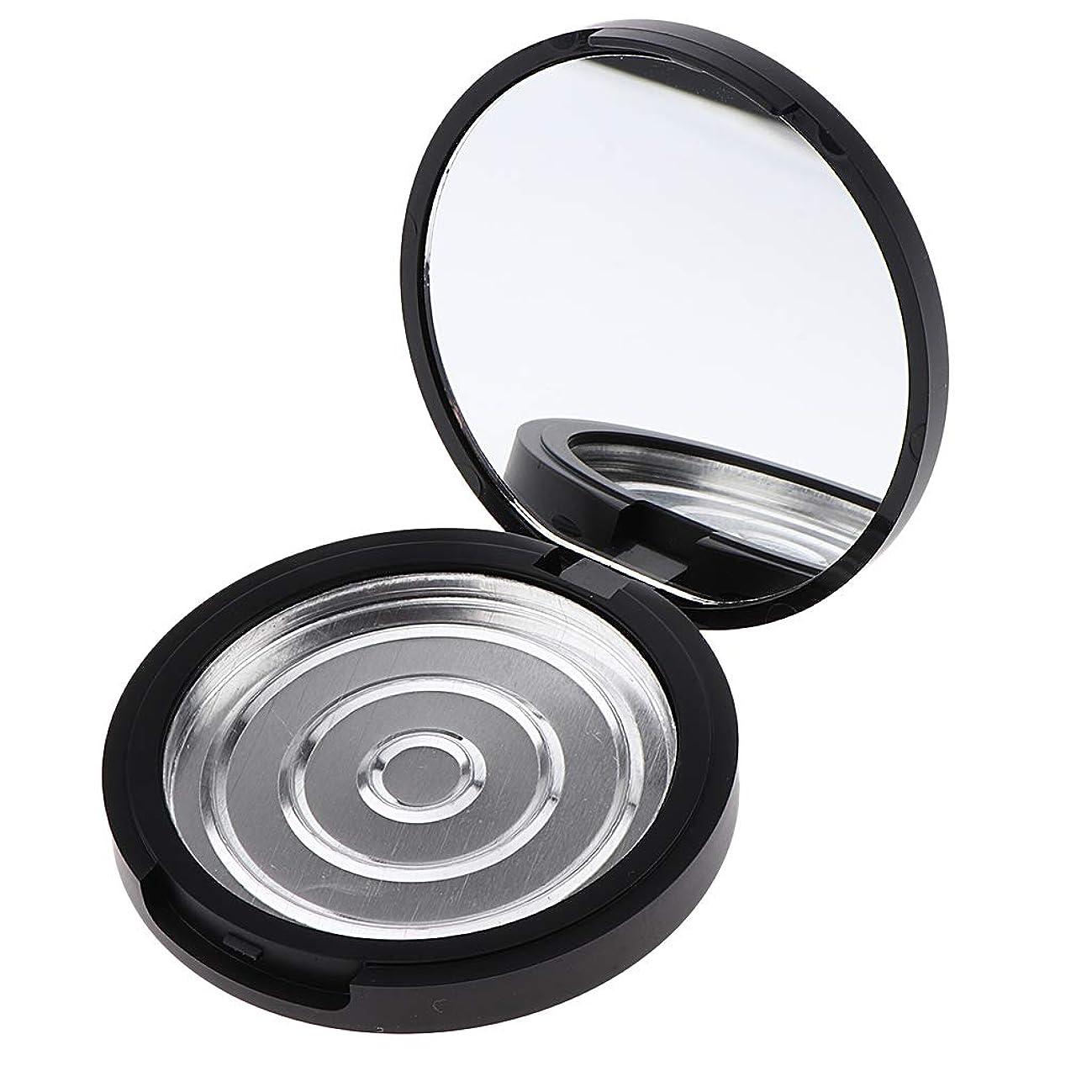 傷つきやすい首尾一貫した影響するP Prettyia パウダーケース 化粧鏡付き 手作りコスメ 収納ケース 小分け容器 3サイズ選べ - 高さ17mm