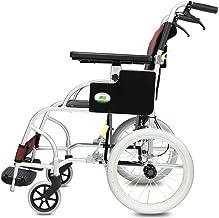 Zhi BEI Wheelchair, Aluminum Alloy Elderly Disabled Person Manual Wheelchair, Foldable Portable Care Car  