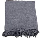 Genuine Hand Woven Kullu Wool LOI- Dark Grey Colored for Men