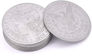 【手品マジック】Palming Coins/パーミングモルガンコイン 10枚入れ 超薄 マジックコイン 近景マジック道具