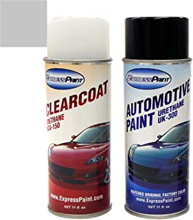 ExpressPaint Aerosol - Automotive Touch-up Paint for Mazda 3 - Titanium Gray Metallic Clearcoat 29Y - Color + Clearcoat Package