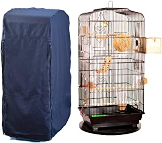 Hersent Large Bird Cage Cover, Breathable Pet Cockatiel Cage Skirt Jacket, Square Cage Crate Shell Shield,Great Accessory Protector for Promoting Sleep for Any Bird, Reptile, Or Small Animal