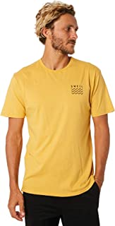 Swell Men's Pigment Mens Tee Crew Neck Short Sleeve Cotton Soft Gold