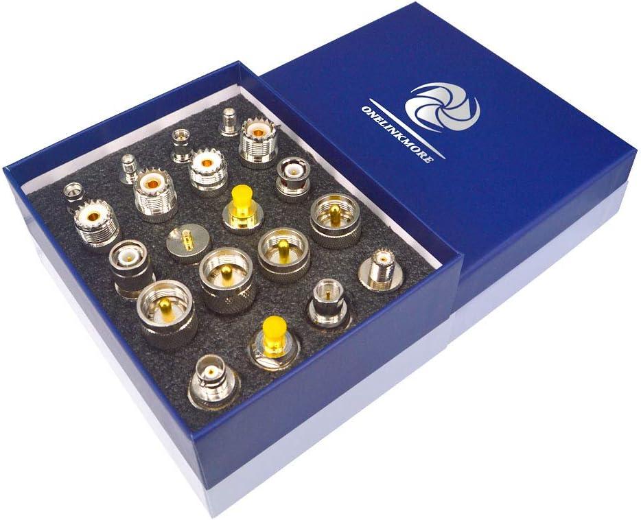 20 Type Set UHF PL259 SO239 Mini UHF Adapter Kits UHF to SMA/BNC/MCX/FME/F/TNC/Mini UHF RF Coaxial Adapter Male Female Coax UHF Radios Adapter Connector Kit …
