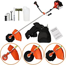 PROMOTOR 4 in 1 Multi Tool Grass Trimmer, 52cc Gasoline Handheld Grass Shears Hedge Trimmer Attachment Edger Attachment and Brush Cutter Blade with Bonus Harness
