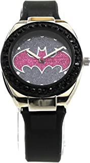 Batman Batgirl Pink Emblem Strap Watch (Bgl9009)