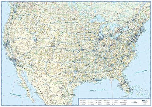 Übersichtskarte USA: plano in Versandrolle, 1:5 Mio. (Busche Planokarten)