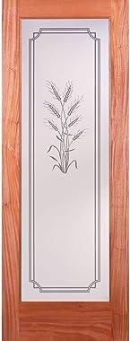 Harvest Woodgrain 1 Lite Unfinished Mahogany Interior Door Slab