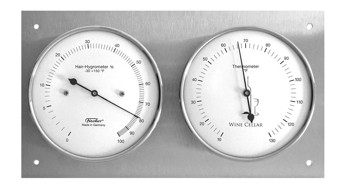 Amazon.com: Wine Cellar Hygrometer & Thermometer 9.4 x 5.1 Inch, 140.01 (°F  Version) : Patio, Lawn & Garden