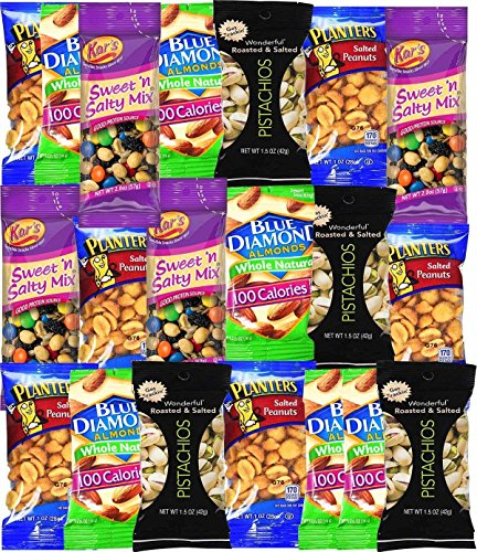 Healthy Snacks Care Package Grab And Go Variety Pack (20 Count) - College Students Final Exam Office Spring