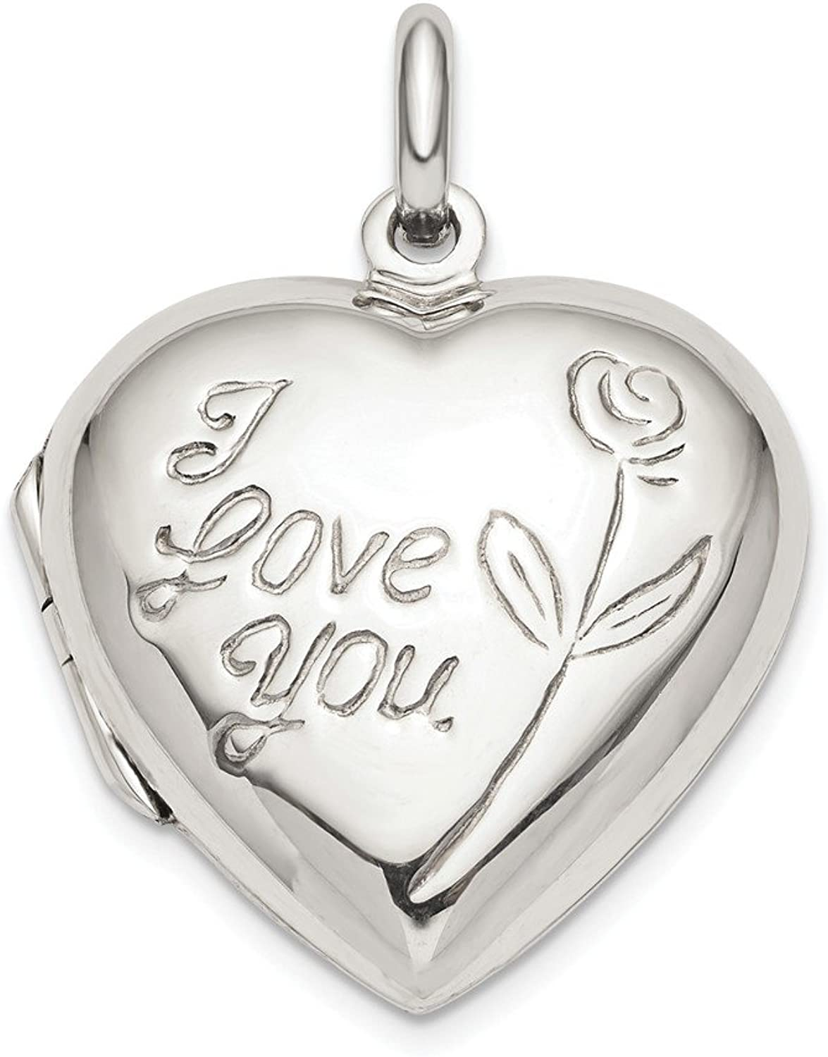 FB Jewels Solid Sterling Silver Heart Locket
