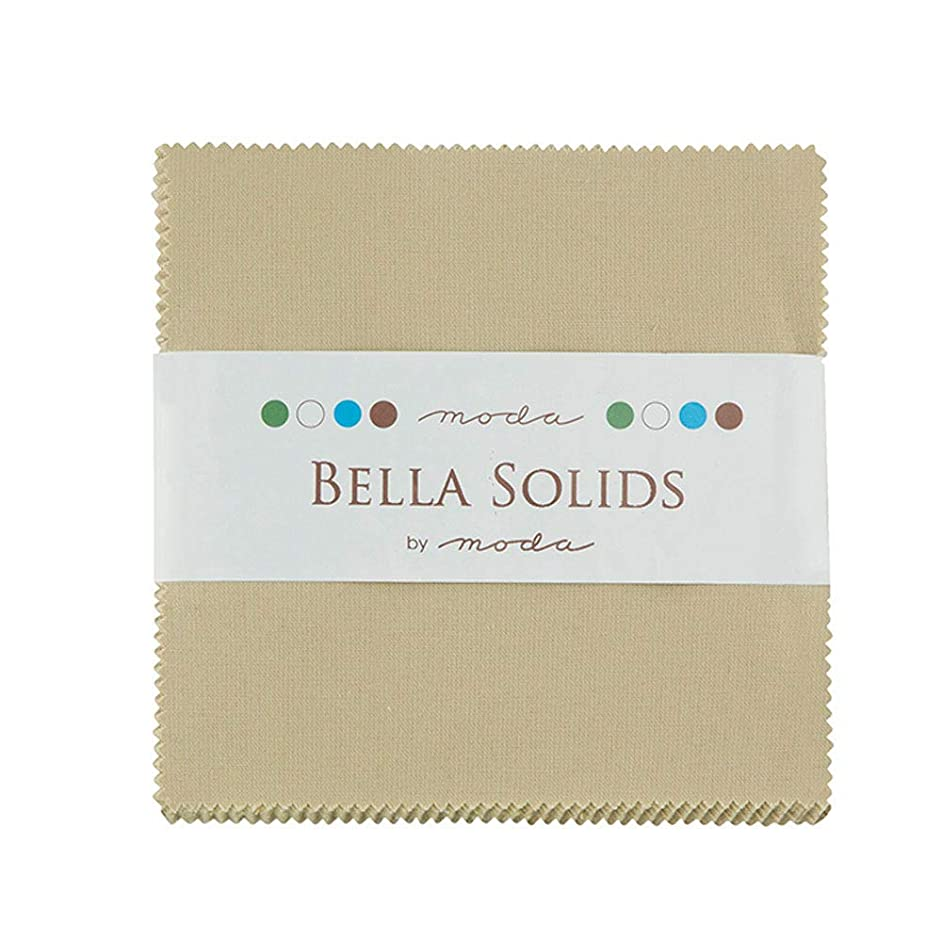 Bella Solids Tan Charm Pack 42 Squares 5