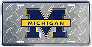 University of Michigan Diamond License Plate Tin Sign 6 x 12in