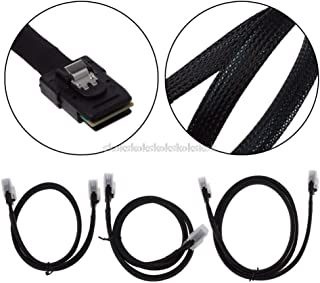 V2AMZ - 0.5m/0.7m/1m Mini SAS 36P SFF-8087 Male TO Mini SAS 36P Male Server HDD Data Transmission Cable Nylon Braid J08 19