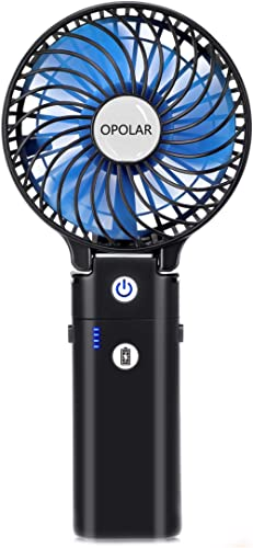 OPOLAR Rechargeable Handheld Fan with 5-20 Working Hours, Strong Wind Portable Fan with 5200mAh Battery, 3 Settings, ...