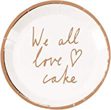Talking Tables Tables Heart Cake Plates, Pack of 12, Rose Gold