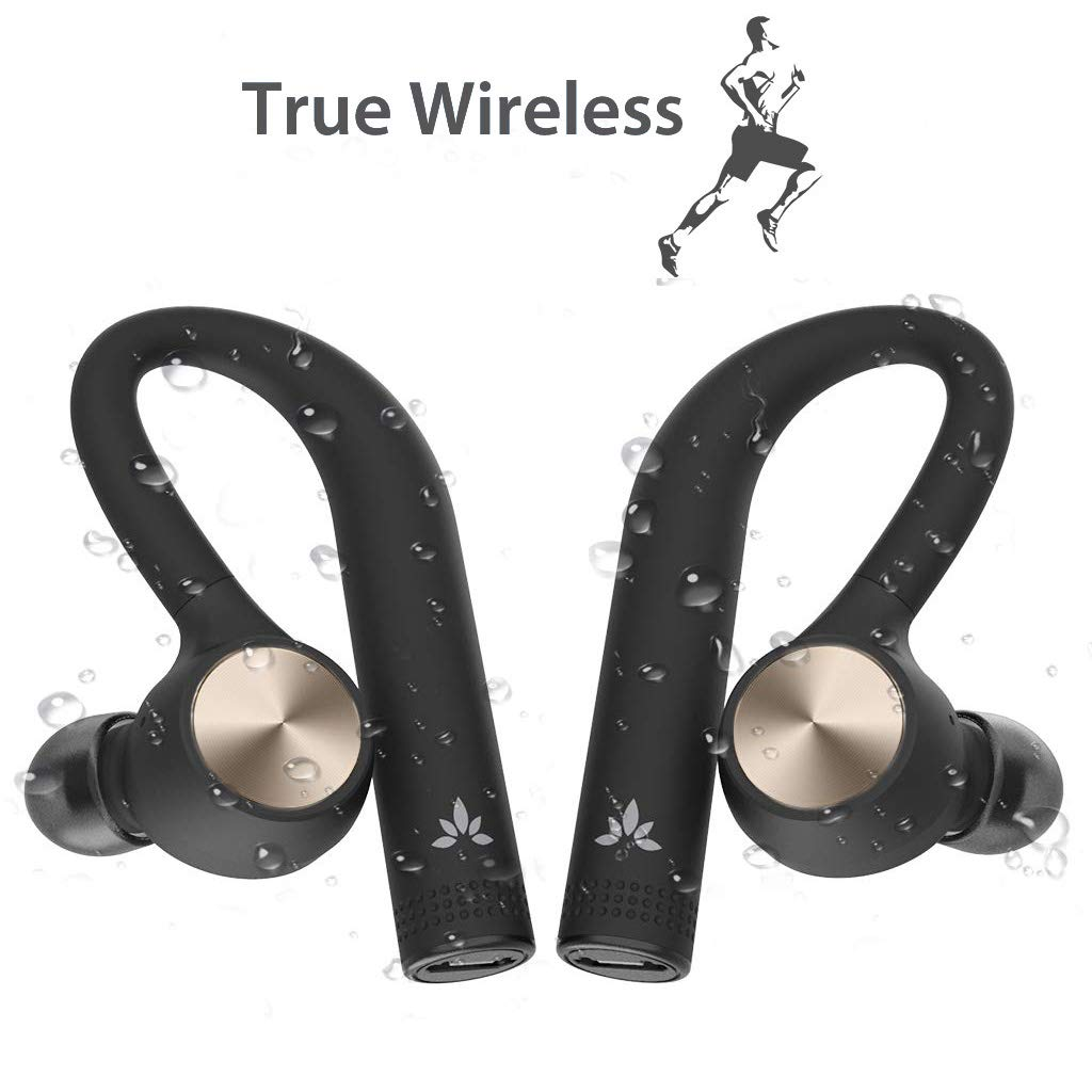 Amazon Com New Avantree Tws109 Sports True Wireless Earbuds For Running Sweatproof Truely Tws Bluetooth Headphones With Mic Secure Fit With Around Ear Earphones Cordless Headset For Cell Phones Workout Electronics