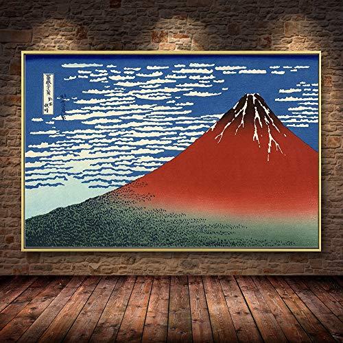 PLjVU Escuela de útiles Escolares Halloween-Katsushika Hokusai Tainan Pintura al óleo Lienzo Carteles e Impresiones Cuadros Cuadro de Arte de Pared para Sala de Estar-Sin marco50X70cm