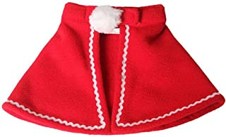 DSstyles Cute Pet Clothes Cloaks Dogs Cat New Year Christmas Costumes Decoration Red L