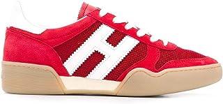 HOGAN Women's HXW3570AC40KRF0QEW Red Suede Sneakers
