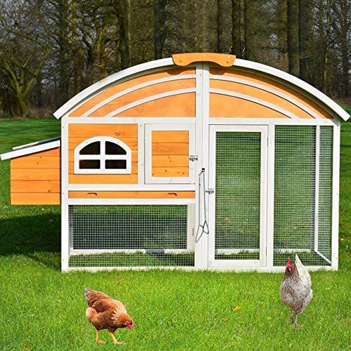 zooprinz Moderne Hühnervoliere mit Nistkasten – aus massivem Voll-Holz und stabilem Draht – Hühnerstall schnell zu reinigen – Witte-rungsbeständig Dank hochwertiger Lasur (Hühnerstall Braun)