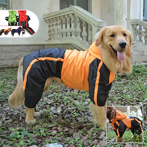 Lovelonglong Alaska Dog Hooded Raincoat, Golden Retriever Rain Jacket Poncho...
