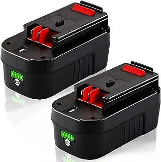 TenHutt - Batería de litio de repuesto para Black and Decker HPB18 HPB18 HPB18-OPE 244760-00 A1718 FS18FL FSB18 Firestorm