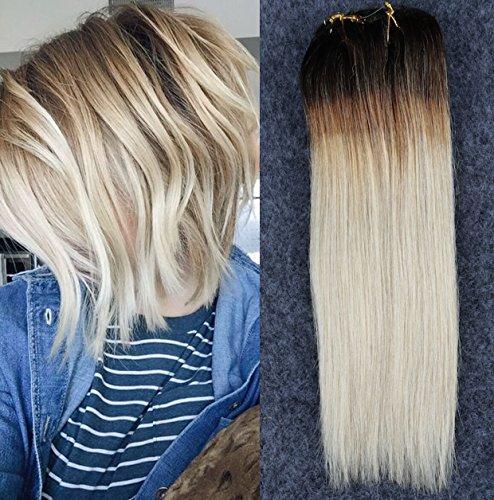 100% Real Clip en extensiones de cabello humano