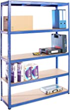 G-Rack 0023 planksysteem, blauw gepoedercoat roestvrij staal, 1 Bay