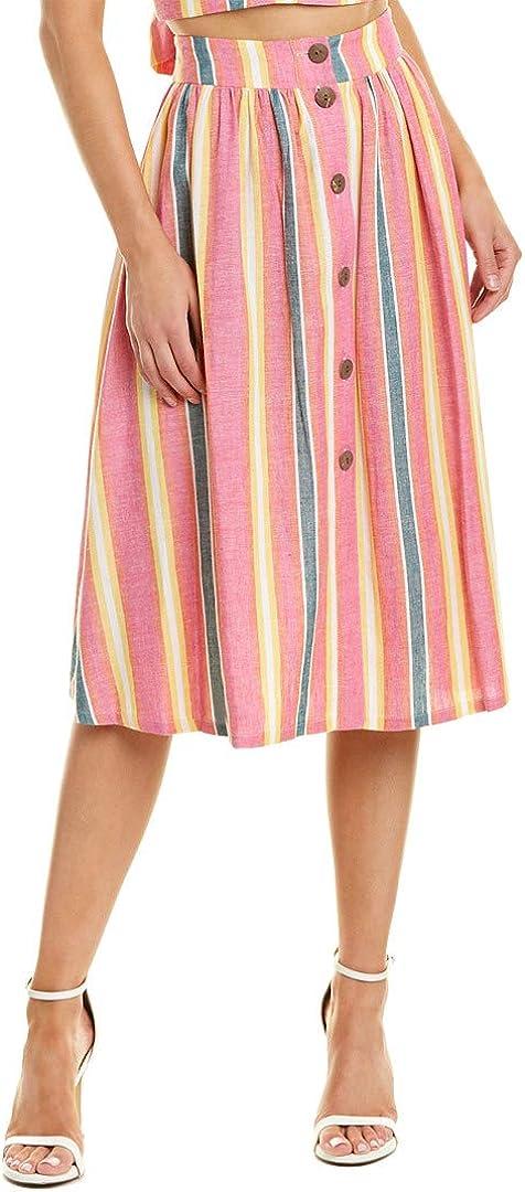 BCBGeneration Women's Sunrise Stripe A-line Skirt