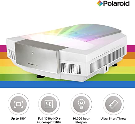 $1399 Get Polaroid Full HD Ultra Short Throw Projector U-200: 30,000 hours LED Light Source, Android Based Home Theater Projector TV, Supports Gaming, Dual-Band WiFi, 4K Compatible with 0.2:1 Throw Ratio