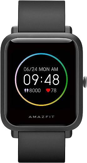 Amazfit Bip S Lite Smartwatch für Herren Damen 1.28 Zoll Always-on Farbdisplay Fitness Tracker mit 30 Tage Akku, 150 Zifferblätter, 5 ATM…