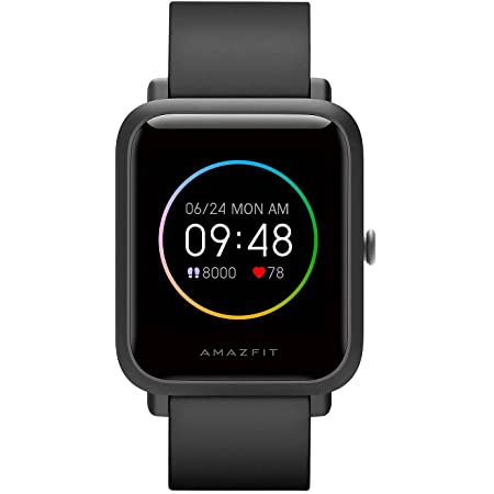"""Amazfit Bip S Lite Smart Watch Fitness Tracker for Android iPhones, 30 Days Battery Life,14 Sports Modes, Heart Rate & Sleep Monitor, 5 ATM Waterproof, 1.28"""" Always-on Display, for Men Women(Black)"""