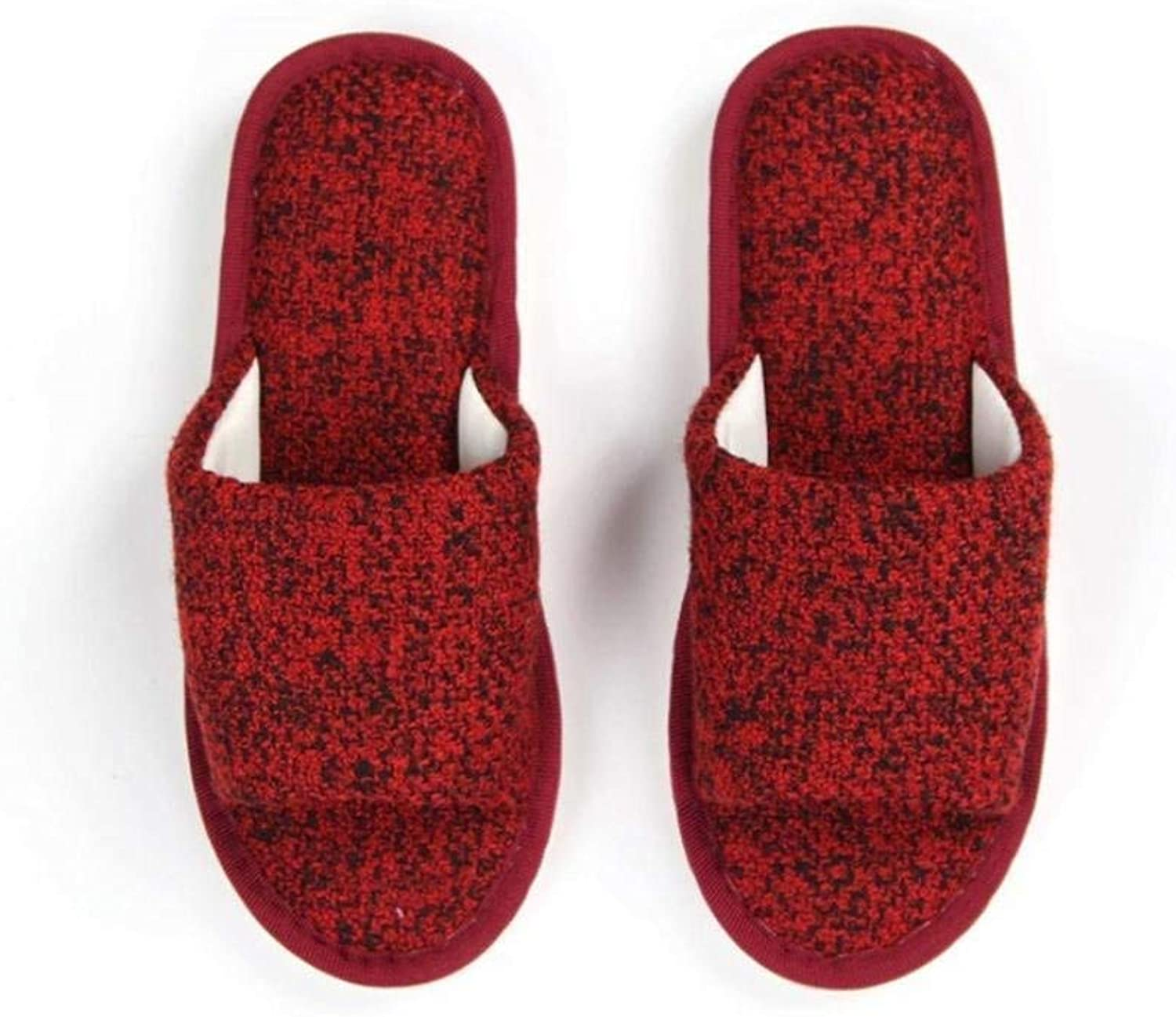 GouuoHi Womens Slippers Ladies Casual Home Slipper Interior Non Slip Bedroom Slippers for Women Fashion shoes bluee Red Slipper