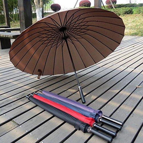 BiuTeFang Paraguas Grande paraguas mango largo varilla recta paraguas de golf manual abierto de alta calidad a prueba de viento 25 pulgadas
