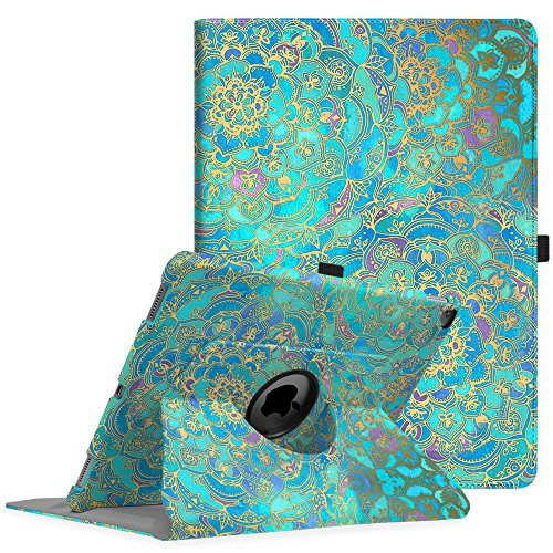 Fintie Hülle für iPad Pro 12.9 (2. Generation 2017/1. Generation 2015), 360 Grad verstellbare Schutzhülle Stand Cover Tasche mit Auto Schlaf/Wach Funktion, Jade