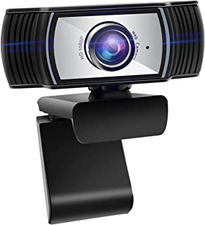 ANTZZON 1080P Full HD Webcam, Built-in Noise Reduction Microphone Stream Webcam for Video Conferencing, Online Work, Home ...