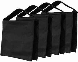 Fasmov Heavy Duty Photographic Sandbag Studio Video Sand Bag for Light Stands, Boom Stand, Tripod,Pack of 4(Black)