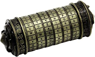 Galapara Retro Da Vinci Bloqueo de código, Da Vinci Code Mini Cryptex For Christmas Valentine's Day Most Interesting Birthday Gifts For Boyfriend and Girlfriend Brain Teaser Lock Puzzles