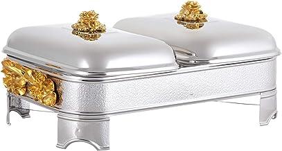 Regent Stainless Steel Wild Bush Gold Rectangular Warmer