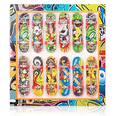 Amazon - Save 50%: HEHALI 12 PCS Fingerboard Professional Mini Finger Skateboard for Kids Birth…