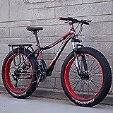 DSHUJC Bicicleta de montaña, Neumático Grande Velocidad Variable Amortiguador Bicicleta de Nieve Playa Off-Road Hombres y Mujeres Adultos Coche Doble, para Adultos, Estudiantes, etc.