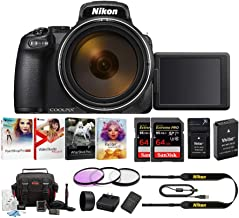 Nikon Coolpix P1000 4K Digital Camera with Extreme Pro 64GB Card 2-Pack, Camera Case, 77mm Filter Kit, Software Pack and Accessory Bundle