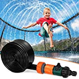 Toyvian Trampolin Sprinkler für Kinder, Wassersprinkler Spaß Sommer Outdoor Wasserspielzeug für...