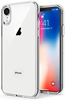 TENOC Phone Case Compatible for Apple iPhone Xr 6.1 Inch, Crystal Clear Ultra Slim Cases Soft TPU Cover Protective Bumper