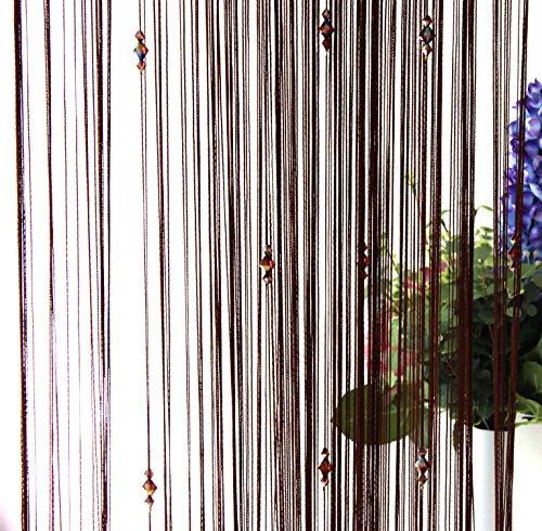 ZAIQUN - Cortinas decorativas puerta borlas., tela