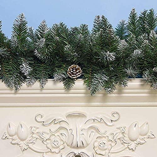 YuKeShop Guirnalda de 2,7 m para colgar en el árbol de Navidad, diseño de hojas de ratán, hecha a mano, decoración del hogar para
