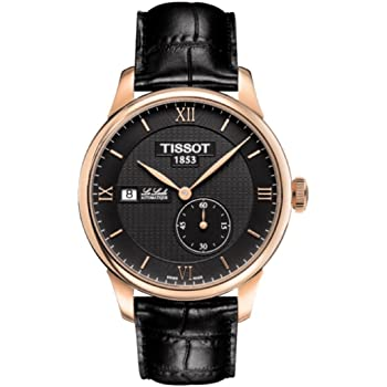Tissot Le Locle Automatic Black Dial Black Leather Mens Watch T0064283605800