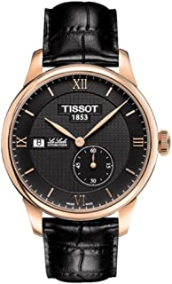 Le Locle Automatic Black Dial Black Leather Mens Watch T0064283605800
