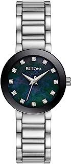 Bulova - Reloj analógico para Mujeres de Cuarzo con Correa en Acero Inoxidable 96P172